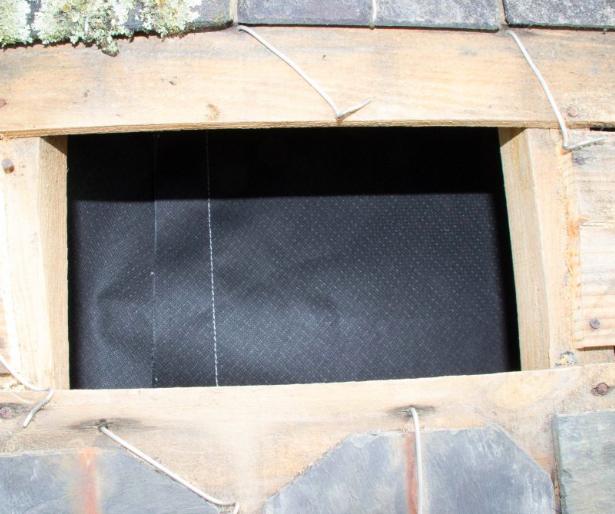 isosac permet l'isolation entre chevrons par extérieur toiture